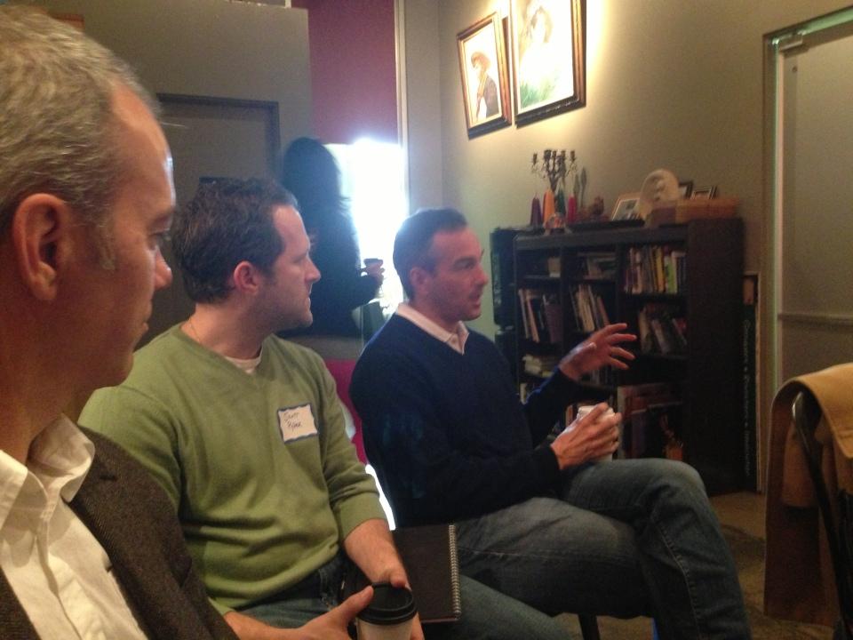 Erik Hovenec discussing a new Pasadena Accelerator